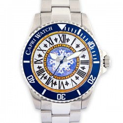 CAPRI WATCH WATCH SUB 40mm FRISTE BLUE NAVY STAINLESS STEEL